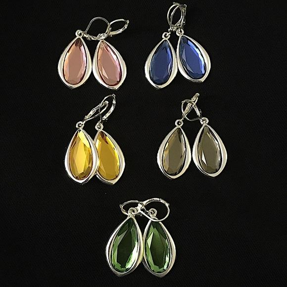 Joan Rivers Teardrop Lever Back Earrings Set of 5
